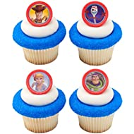 24 Toy Story 4 Toys Play Cupcake Rings Toppers Party Supplies