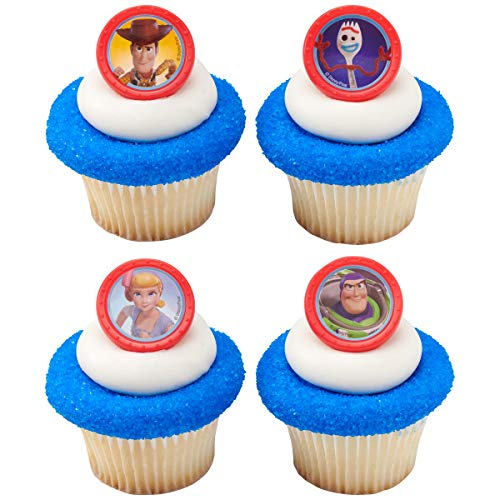 24 Toy Story 4 Toys Play Cupcake Rings