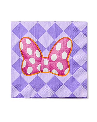 Minnie Mouse Bowtique Lunch Napkins, Pack of 16, Party (Minnie Mouse Napkins)