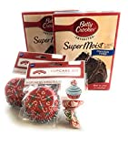 Holiday Time Cupcake Kit with Chocolate Fudge Cake Mix