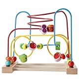 Wooden Bead Maze Fruit Circle Roller Coaster Toy for Children Early Educational Development