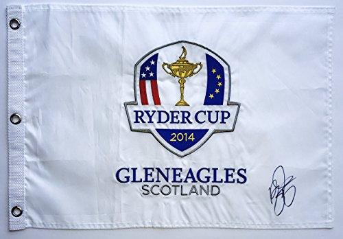 Rickie Fowler signed ryder cup flag 2014 gleneagles golf scotland