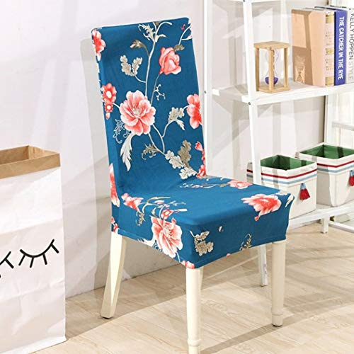 Drew Toby Chair Cover Flower Printing Removable Stretch Elastic Restaurant Banquet Folding Hotel Slipcovers (Outdoor Restaurants Near Patio Me)