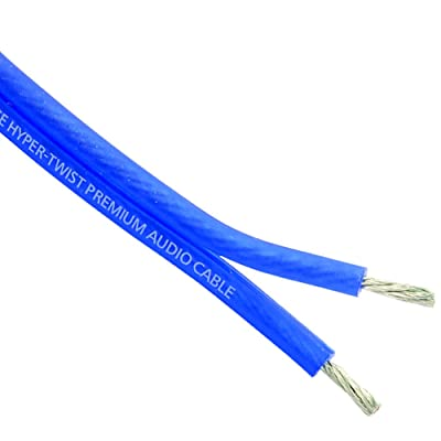 Stinger SHW512B 100 Ft. of 12 Gauge Matte Blue Speaker Wire, Blue: Car Electronics