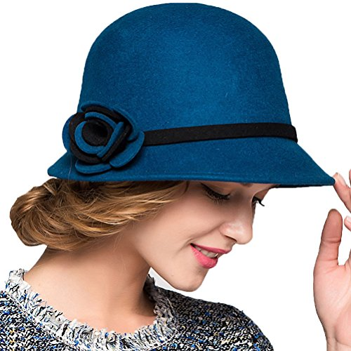 Maitose&Trade; Women's Bow Wool Felt Bucket Hat -