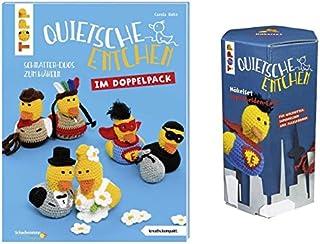 Quietsche Entchen im Doppelpack Buch und Häkelset Superheld-Ente