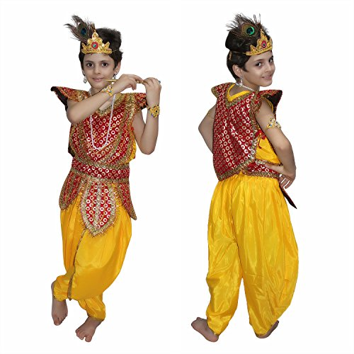 Lord Krishna fancy dress for kids,Krishnaleela/Janmashtami/Kanha/Mythological Character for Annual function]()