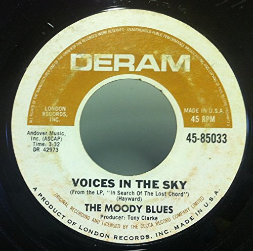 THE MOODY BLUES VOICES IN THE SKY / RIDE MY SEE SAW 45 rpm single