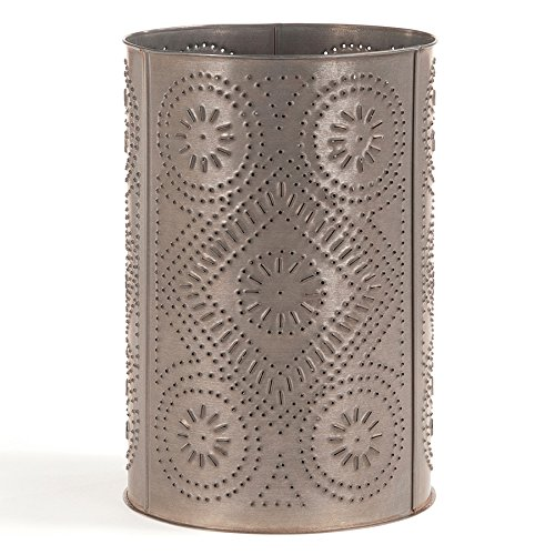 Irvin's Country Tinware Waste Basket with Diamond in Blackened Tin by Irvin's Country Tinware