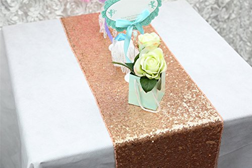 ShinyBeauty 14inx156in Sequin Table Runner