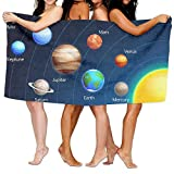 I Like Exercise Baby Bath Towels, Solar System, Lush Organic Large Spa Bath Towel Beach Towels for Men, Bath Set Bathroom Accessories
