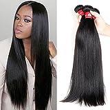 HEBE Peruvian Hair Straight 4 Bundles 18 20 22 24 Unprocessed Straight Peruvian Virgin Hair 100% Human Hair Weave Natural Color