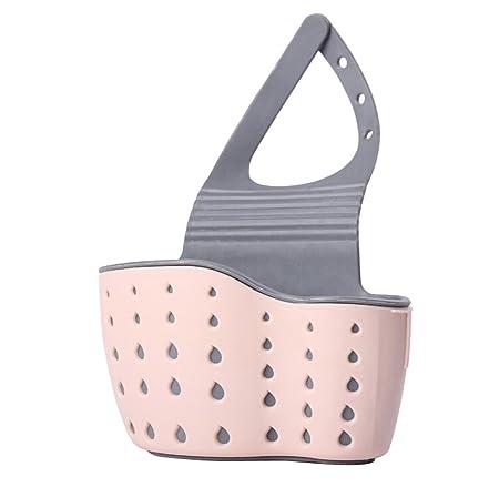 Verde YONG-SHENG 1 Pezzi Bagno Kitchen Organiser Caddy Porta Spugna Sapone spazzolino da Denti scolapiatti lavello Basket