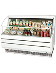 Turbo Air TOM50S 50 Open Display Merchandiser with Modern Design Environmental Friendly Refrigeration System Glass Sides Anti-Rust Coating High Density PU Insulation and Improved Air Flow: