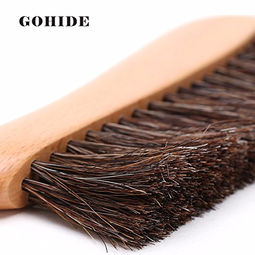 Gohide A Soft Cleaning Brush with Natural Solid Wood Handle and Natural Bristle Brush for Clothes Cleaning, Dust Hair, Sofa, Bed, Bedspread, Carpet Cleaning L:34.5cm, W:8.5cm, H:2.0cm (L) XCX by GOHIDE (Image #4)'