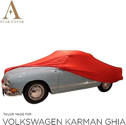 AUTOABDECKUNG ROT PASSEND F/ÜR Volkswagen Karman GHIA INNEN SCHUTZH/ÜLLE ABDECKPLANE SCHUTZDECKE VOLLGARAGE Cover