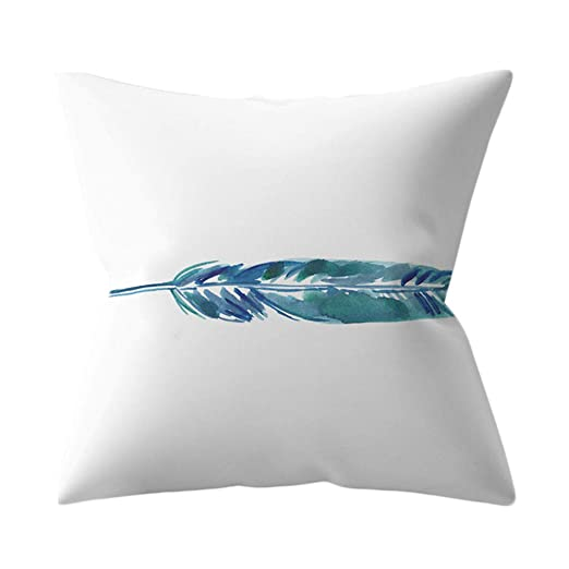 K-Youth Fundas de Almohada Modernos Mar Azul Art Deco Funda ...