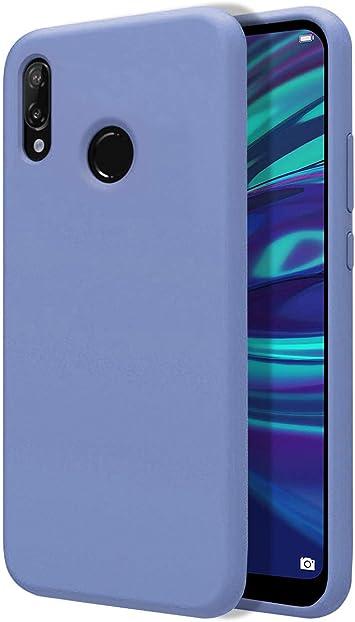 Funda Silicona Líquida Ultra Suave para Huawei Y7 2019 Color Azul ...