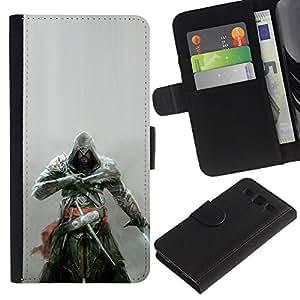 """A-type (Asesinos Samurai"""") Colorida Impresión Funda Cuero Monedero Caja Bolsa Cubierta Caja Piel Card Slots Para Samsung Galaxy S3 III i9300 i747"""
