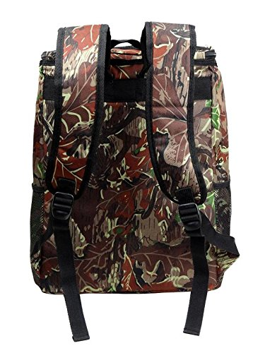Large Padded Backpack Cooler - Fully Insulated, Leak and Water Resistant, Adjustable Shoulder Straps, Extra Storage Pockets - Camo - by GigaTent by GigaTent (Image #3)