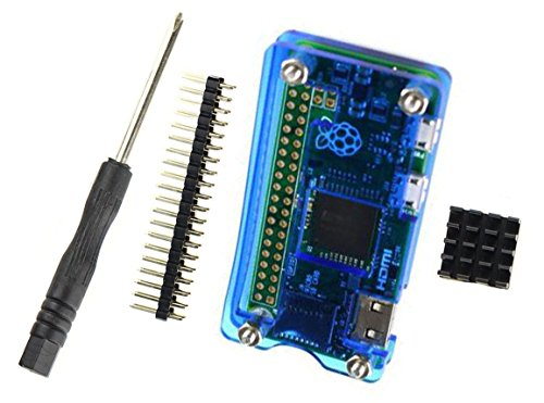 Raspberry Pi Zero W Acrylic Case, Heat Sink, Hardware & Gpio