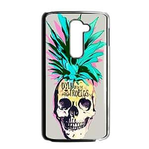 LG G2 Phone Case Covers Black Pineapple Skull GWF Neoprene Cell Phone Case