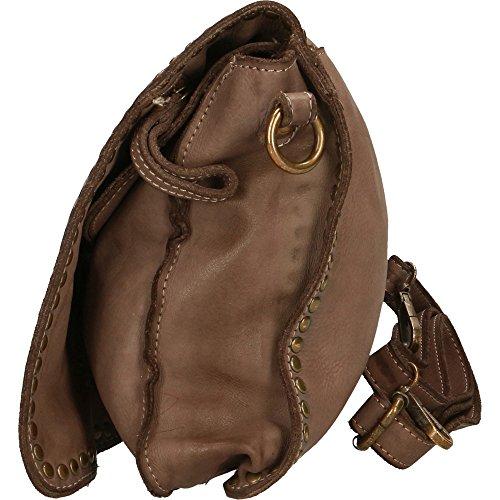 Italy à épaule en Boue petit main embrayage in cuir véritable à Femme Cm Vintage 31x22x7 Chicca sac Borse Made EZq11Y