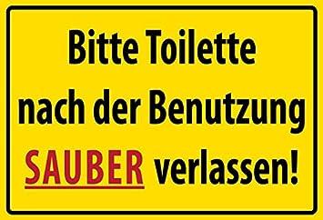 Schatzmix Bitte Toilette Nach Der Benutzung Sauber Verlassen