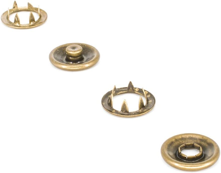 Weddecor 10 x 20mm Gold Snap Poppers Prong Press Studs Fasteners for Sewing Clothing Leather Craft Jackets Shirts Bags Fashion Wear Repair Work DIY