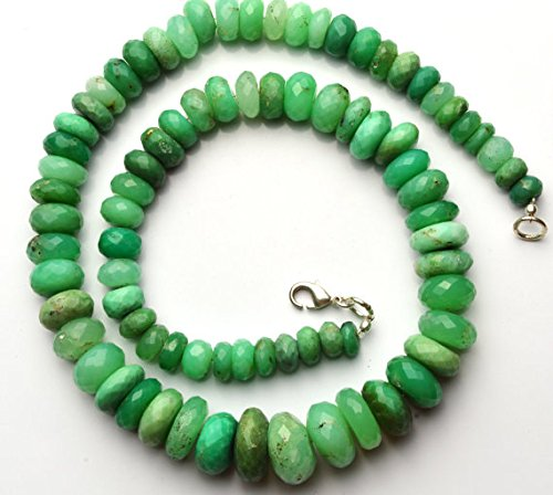 JP_Beads 1 Strand Natural Chrysoprase Big 7-16MM Facet Rondelle Beads 18 inch