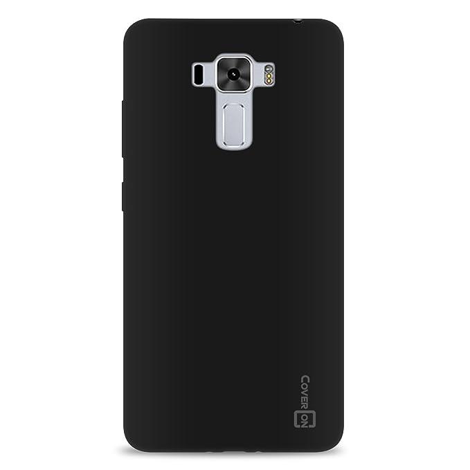 Asus Zenfone 3 Laser Case, CoverON [FlexGuard Series] Slim Soft Flexible TPU Rubber Phone Cover Case for Asus Zenfone 3 Laser ZC551KL - Black