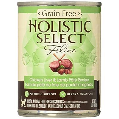 Holistic Select Grain Free Chicken Liver & Lamb Pate Recipe - 12x13 oz
