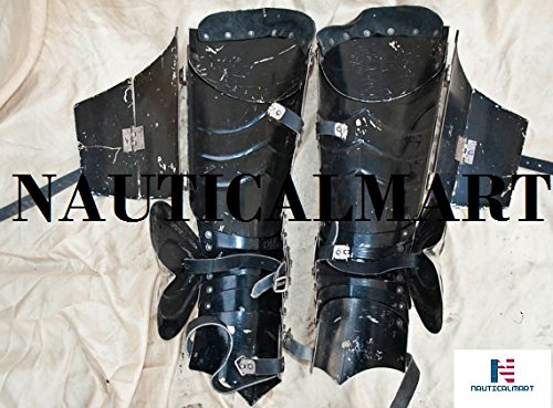 SCA combat leg armor, plate legs, cuisses with poleyns by NAUTICALMART (Image #3)