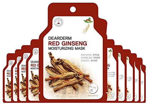 Dearderm Red Ginseng Moisturizing Mask (10 Pieces)