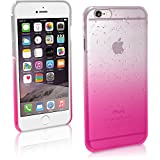3d rain - iGadgitz Pink / Clear Raindrop Slim PC Hard Back Case Cover for Apple iPhone 6 & 6S 4.7