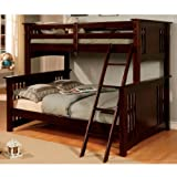 247SHOPATHOME Idf-BK602F-Exp Bunk-Beds, Full, Espresso