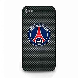 Plastic Ligue 1 FC Design Apple iPhone 4s Compact téléphone Etui coque,Original Paris Saint-Germain PSG 1970 Black Phone Cover