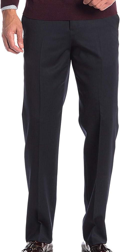 Pantalon Azul Gabardina Hombre Off 75