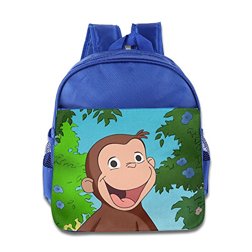 Fashionable Curious George School Bag College Bag For Girls, Boys, Kids, Students-RoyalBlue (Hunter Washington Redskins Water Bottle)