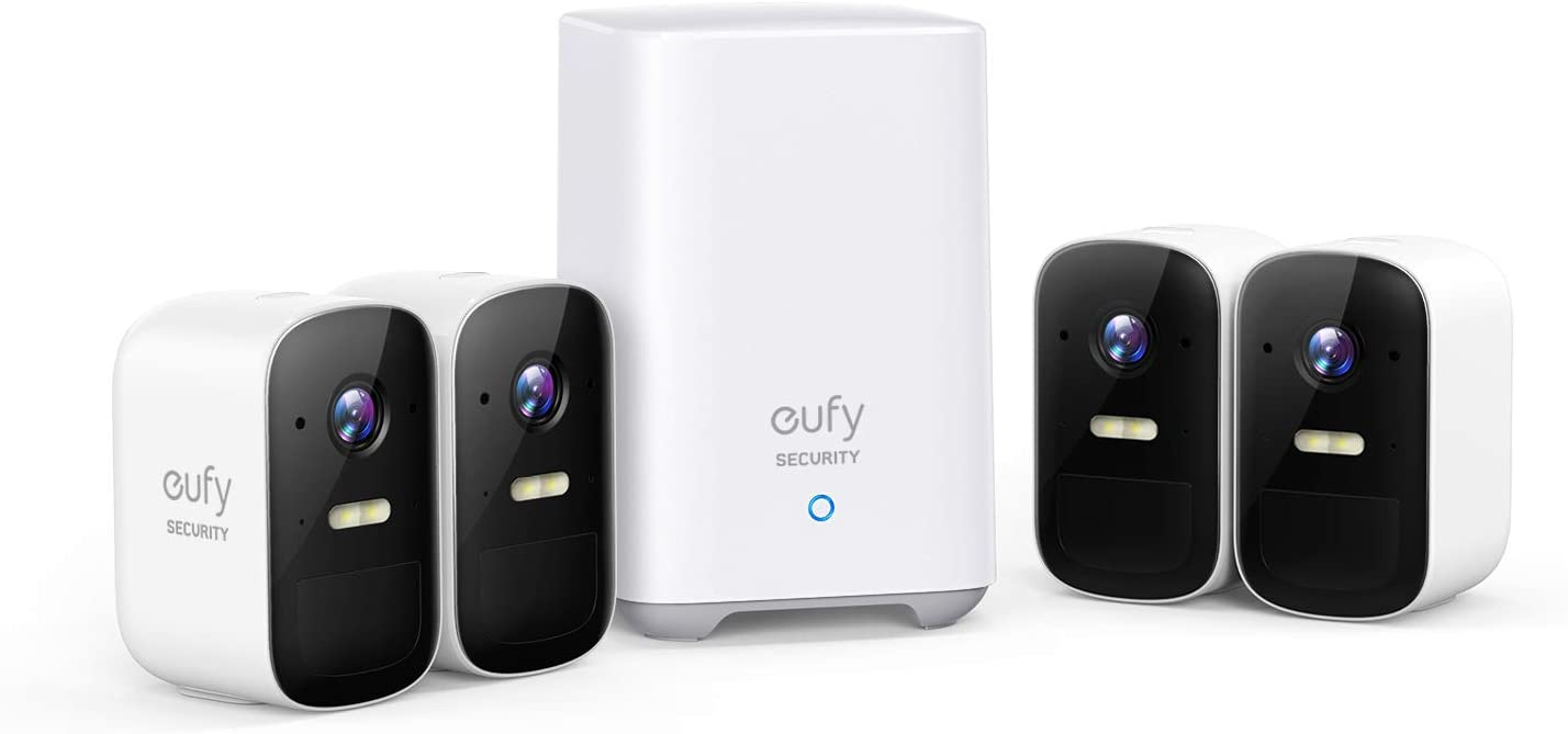 eufy Security, eufyCam 2C 4-Cam Kit Wireless Home Security System