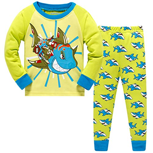Schmoopy Boys Pajamas with Shark for Toddler and Kid Boys Size 6