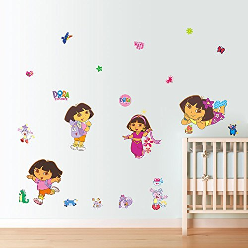 MLM Dora the Explorer Peel & Stick Wall Decals Art Home Decals Vinyl DIY Removable Mural Decor