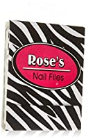 Dimension 9 Personalized Mini Matchbook Pocket Nail File, Rose, 0.32 Ounce
