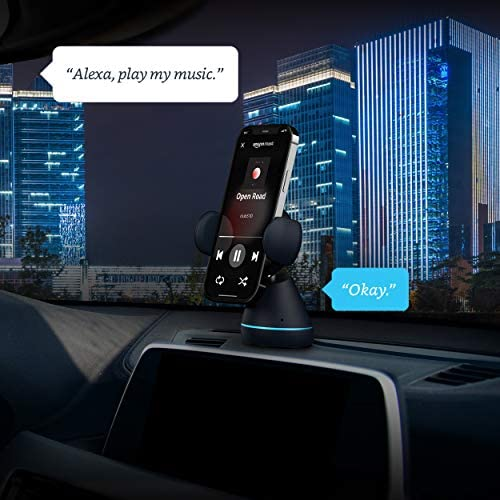 iOttie Aivo Connect - Hands Free Alexa in Your automotive with Your Phone – Wireless Charger Auto Clamping Phone Mount Holder with Alexa Built-in for iOS & Android | Spotify & MFi Certified