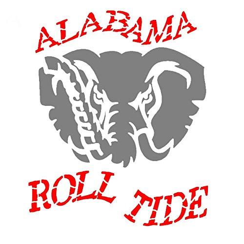 Alabama Crimson Roll Tide Stencil Mylar Reusable College Sports Football Stencils ()