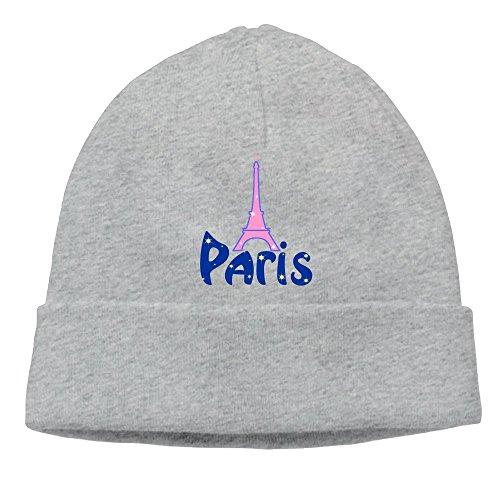 AKKK47 pinik Paris Eiffel Men's Daily Solid Knit Cap Beanie That Fit Your Head Perfect Stretchy & Soft Ash (Bed Head Eiffel Tower)