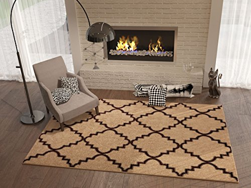 Geometric style living room rugs - Living room area rugs contemporary ...
