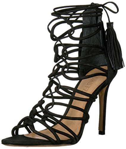 Schutz Women's Valquis Dress Sandal, Black, 7.5 M US