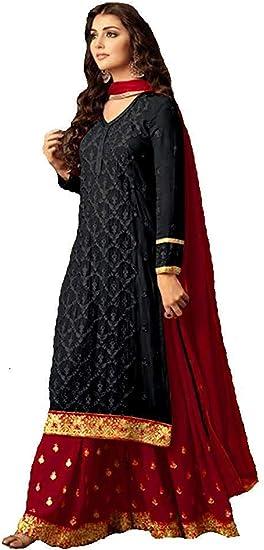 Delisa Indian//Pakistani Sharara Style Salwar Suit for Women Fiona