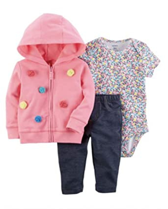 585fcad8f2ab Amazon.com  Carter s Baby Girls 3M-24M 3 Piece Little Jacket Set ...